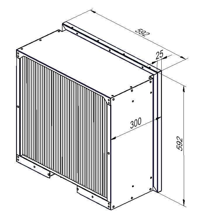 Elektro-Luftfilter 592 mal 592